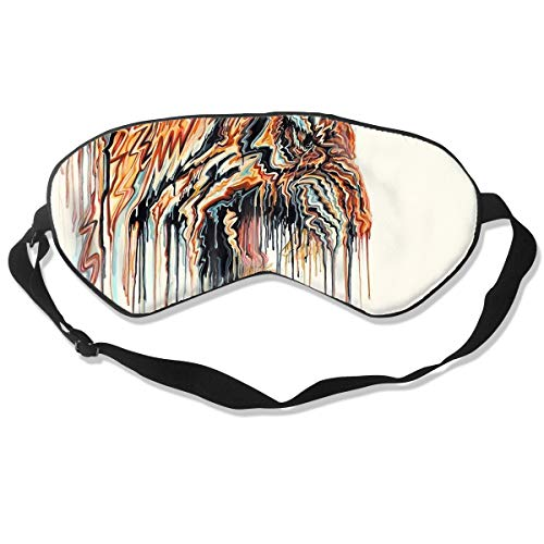 (100% Silk Sleep Mask Eye Mask Tiger Animals Print Soft Eyeshade Blindfold with Adjustable Strap for Sleeping Travel Work Naps Blocks)