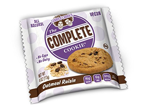 Lenny & Larry's The Vegan Complete Cookie Oatmeal Raisin -- 12 Cookies