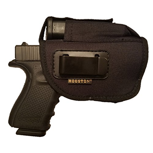 Nylon Ambidextrous Gun + Mag Holster by Houston | IWB and Outside | Fits: Glock, Ruger, Springfield, Sig, S&W, Taurus, H&K With LASER | Large Fit with lined inside for maximum Gun protection Springfield Bb