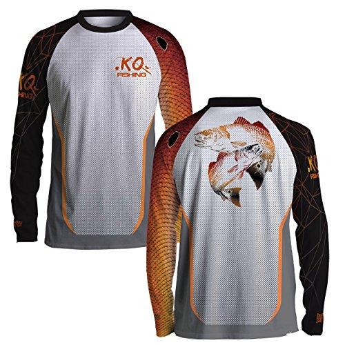 Redfish Fish Scale Shirt Series - Long Sleeve (Redfish Fishing T-shirt)