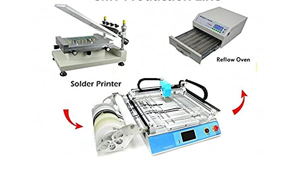GOWE Small Production line: Solder Printer + Pick and Place Machine + Reflow Oven Discount - - Amazon.com