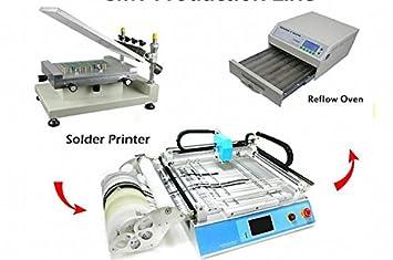 GOWE - Línea de producción pequeña: impresora de soldadura + ...