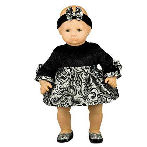 """The Queen's Treasures 15"""" Baby Doll Elegant Party Dress w..."""