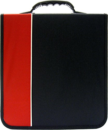 (1) CD / DVD Binder - 240 Capacity - Black & Red- #2-CRY-E240RD (Binder 2 Cd / Dvd)