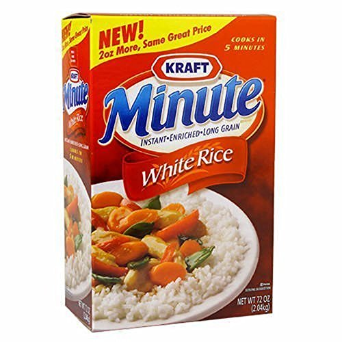 Minute Rice Instant Enriched Long Grain White Rice, 72 oz. (pack of 6) by Minute