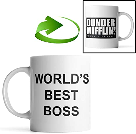 Dunder Mifflin Mug 11oz Double-Sided Coffee Tea Mug