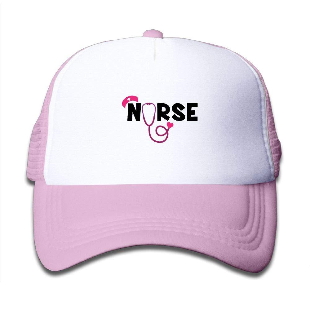 Clarissa Bertha Nurse Stethoscope SVG Kids Boys Girls Baseball Caps Mesh Hats