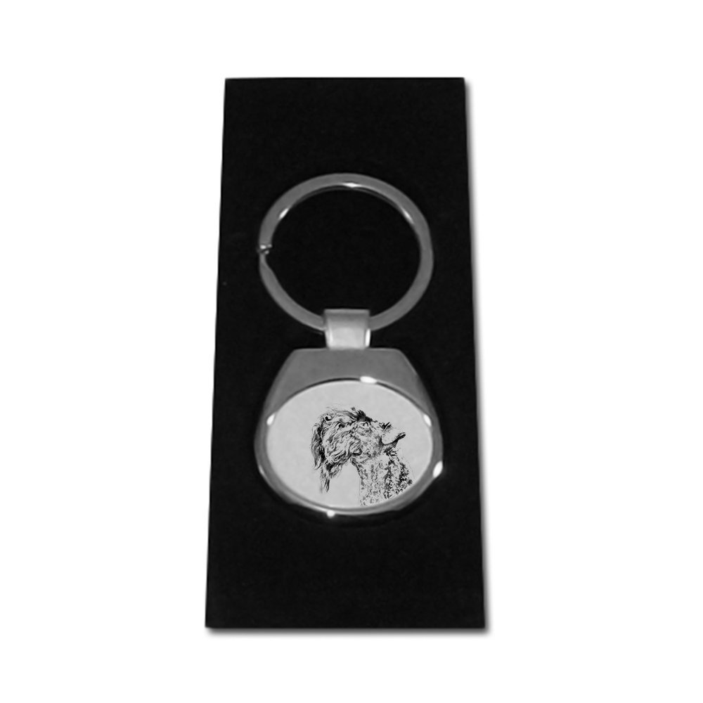 Art Dog Ltd Kerry Blue Terrier Unique Gift Sublimation New keyrings with Purebred Dogs