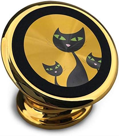 猫の家族 携帯電話ホルダー おしゃれ 車載ホルダー 人気 磁気ホルダー 大きな吸引力 サポートフレーム 落下防止 360度回転