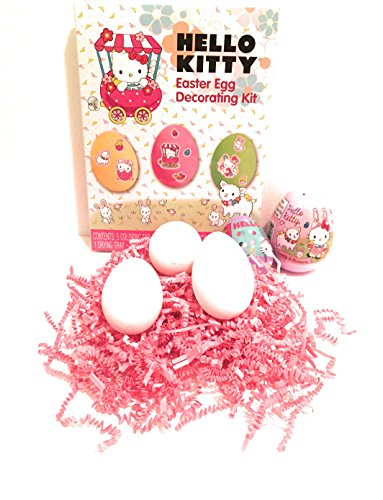 rating Kit, Hello Kitty egg with candy, Hello Kitty surprise egg with candy & stickers, with Three Decorating Eggs - 6 count ()