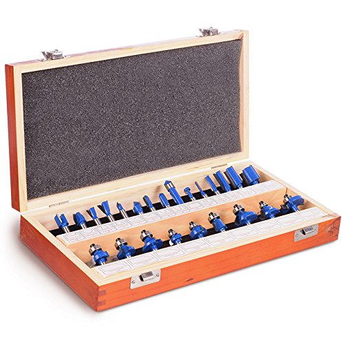 Handy ToughTest Router Bit 24-Piece Set With Wooden (Handy Router)