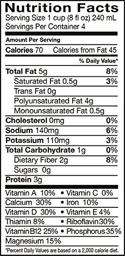 Pacific Foods, Unsweetened Hemp - Vanilla (Pack of 6)