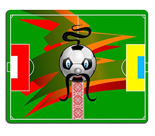 [Liili Mouse Pad Natural Rubber Mousepad IMAGE ID: 12803058 Soccer field with flag of Poland and UkraineCartoon soccer] (Costumes Of Ukraine)