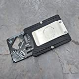 MultiWallet Large Toolcard Carbon Edition. Holstex Tactical Wallet Carbon Fiber Texture. Multi tool and money clip.