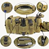 Utility 3P Swat Waist Bag Pack Hand Pouch for Cycling Hunting Camping(Brown)