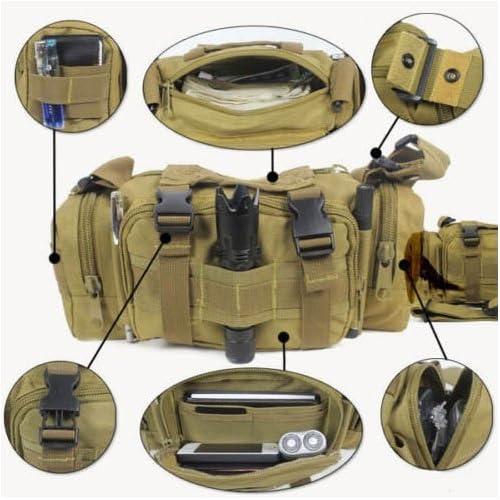 HuaYang 3P swat utilitaire molle pochette sac à dos sac de taille de chasse(Brun)
