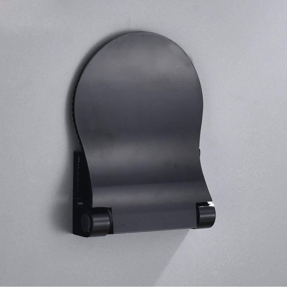 Taglia Libera Antiscivolo in Alluminio Centeraly Poggiapiedi per Doccia Nero