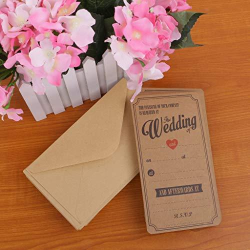 BROSCO Vintage Affair 50 Wedding Evening Invitations Celebration Occasion Envelope ()