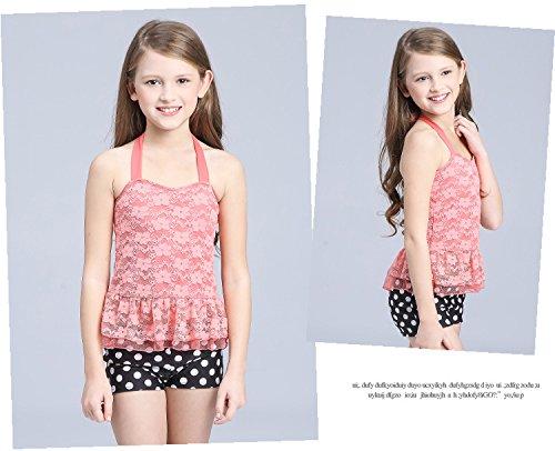Deux Pour short Ensemble Maillot De Orange Bain Acvip Haut Beachwear Pièces Enfant Fille 4zw8qxxRd