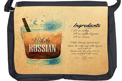 Borsa Tracolla Bar Party Ricetta bianca russo Stampato