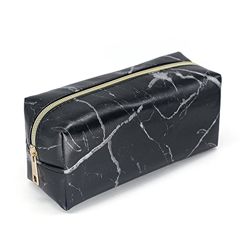 MEI YI TIAN New Marble Cosmetic Bag with Gold Zipper, Fashion Handbags for Makeup Storage, Change Holder Pouch Coin Wallets Organizer (Marble (70's Makeup Styles)