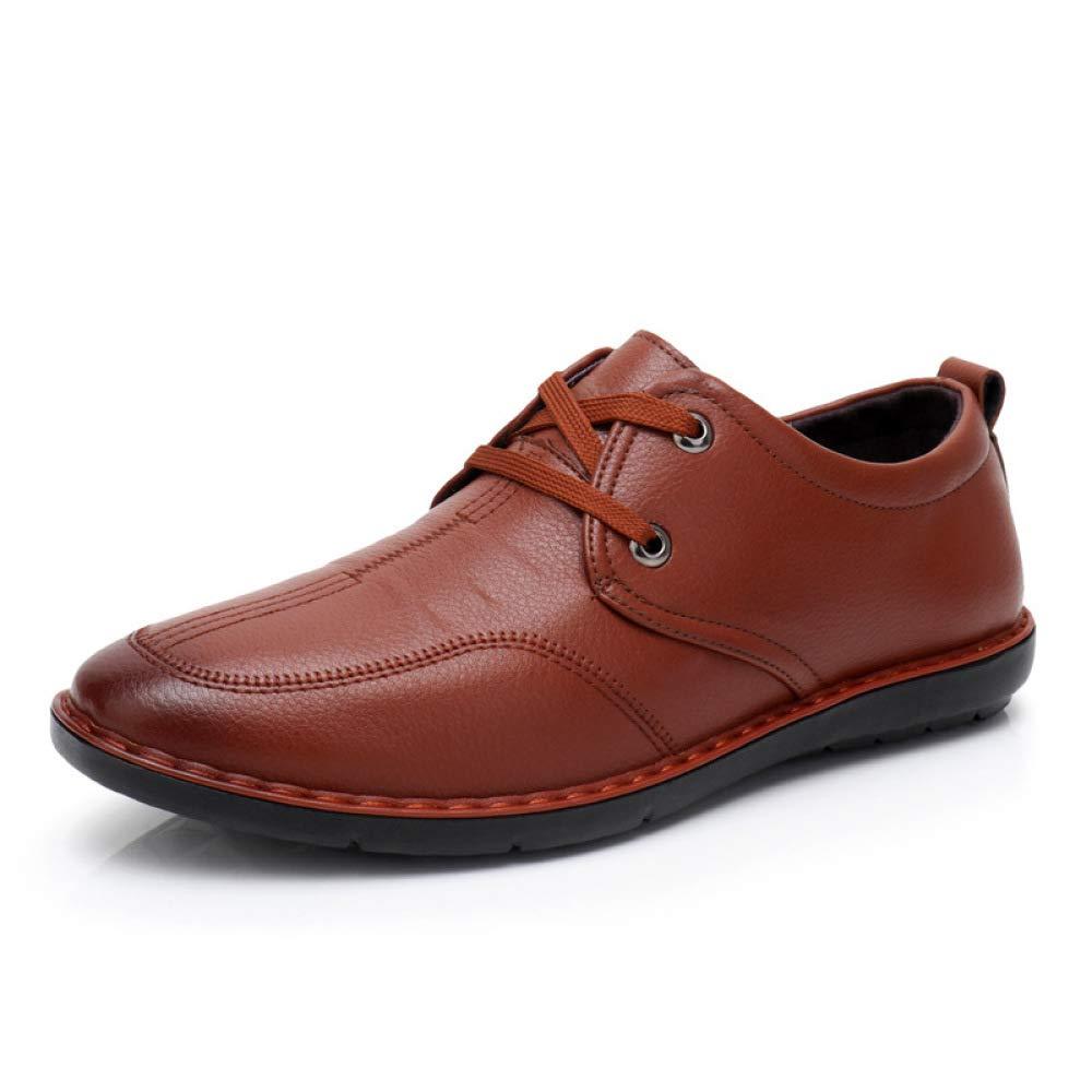 Los Hombres Son Zapatos Casuales De Moda con Cordones Cómodos Zapatos De Conducción Suaves En La Parte Inferior 39 EU|Brown