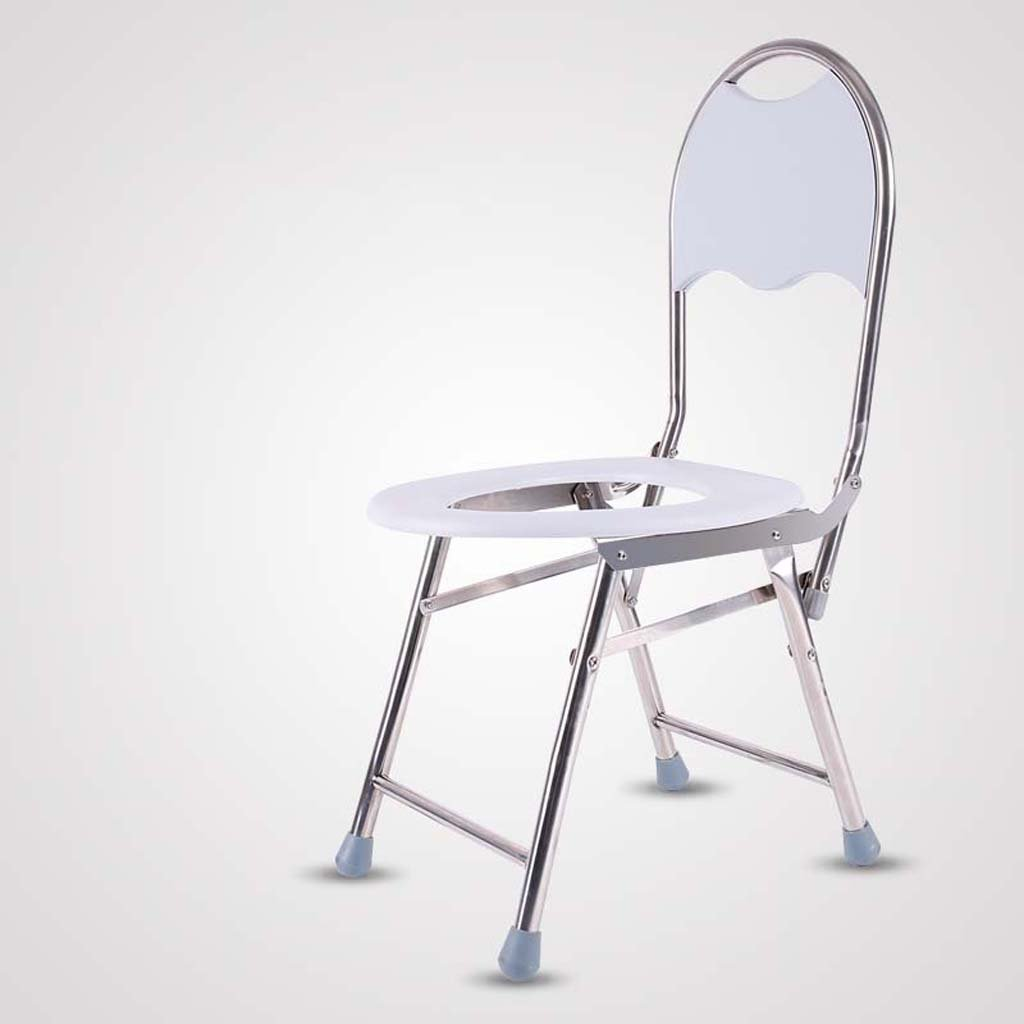 Shariv-シャワーチェア トイレの椅子/折りたたみ椅子バスチェア厚いステンレス鋼43 * 35 * 78cm B07DPD63MT
