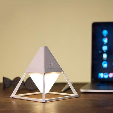 Pointhx Lampada da tavolo a LED creativa Piramide Luce da scrivania ...