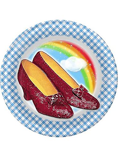 Birthday Decoration Ideas For Home (Wizard of Oz Small Paper Plates (8ct))