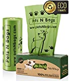 Pets N Bags Dog Poop Bags, 400 Count Waste Bags for Dogs, [Earth Friendly], Refill Rolls (1 Roll, Unscented)