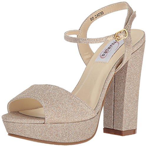 (Dyeables, Inc Womens Women's Whitta Platform Dress Sandal, Champagne 8 M US)