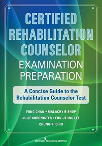 certified rehabilitation counselor examination preparation a rh amazon com CRC Kosher Certification Thank You Certificate