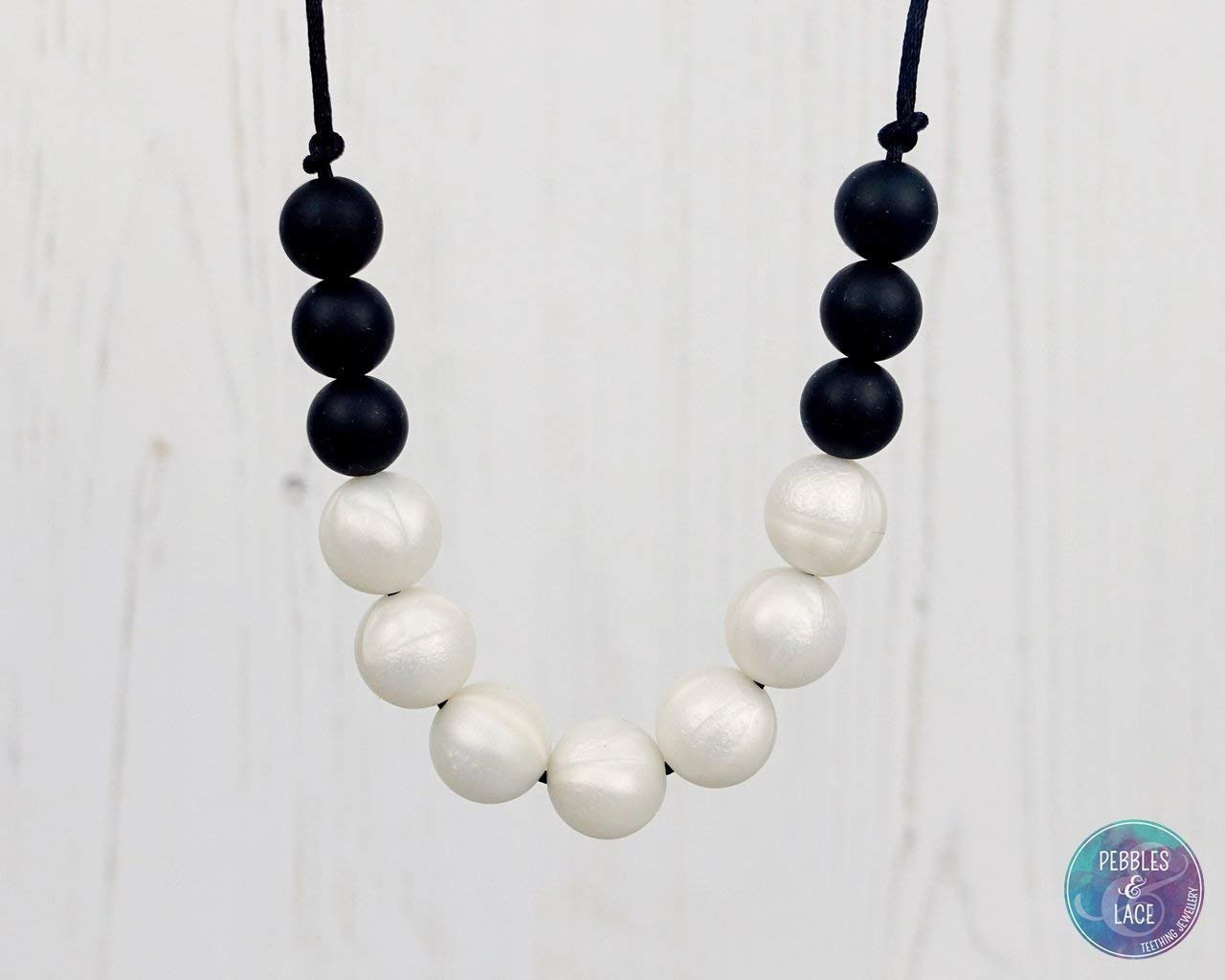 Teething and Nursing Necklace. UK Handmade - PEARL NIGHTS: BUBBLES
