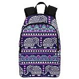 InterestPrint Custom Tribal Aztec Ethnic Elephant Casual Backpack School Bag Travel Daypack Gift