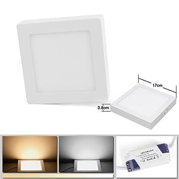 12W Warmweiß(3000K) 900Lumen 3 Jahre Garantie, LED Panel Leuchte ...