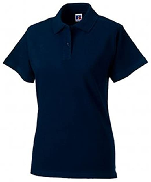 Amazon.com  Russell Women s Pique Cotton Short Sleeve Polo Shirt ... 735ae0613d