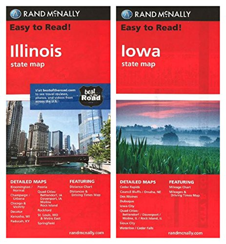 Rand McNally State Maps: Illinois and Iowa (2 Maps) (Iowa Map)