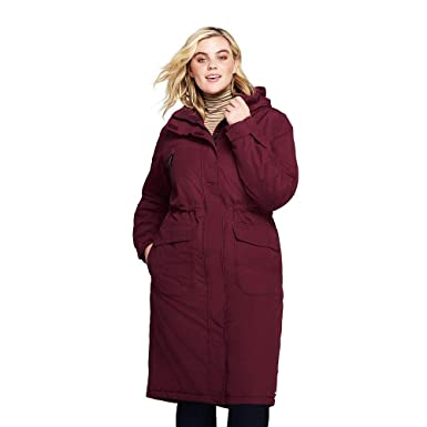 713f6aaa9d Amazon.com  Lands  End Women s Plus Size Squall Insulated Long ...