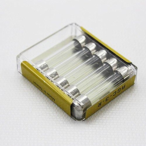3a Fuse Glass Agc (Bussmann Cooper AGC3 5 Count 3 Amp AGC Glass Tube Fuses by Bussmann)
