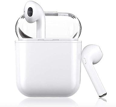 Auricular Bluetooth 5.0, HUIMO Auricular inalámbrico, micrófono y Caja de Carga incorporados, reducción del Ruido estéreo 3D HD, para Auriculares Android/iPhone/Samsung (White): Amazon.es: Electrónica