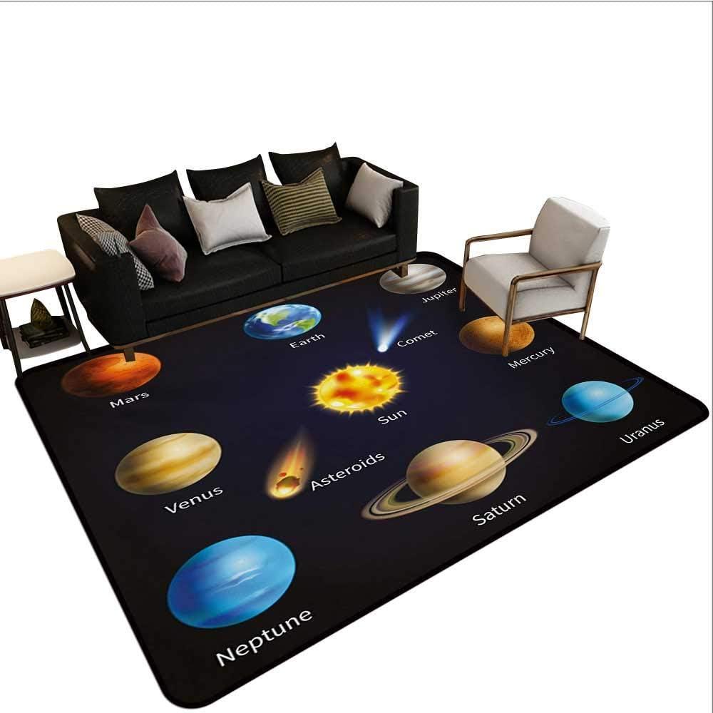 LAURE Alfombrilla Interior, Sistema Solar Realista Planetas y Objetos espaciales Asteroides Cometa Universo Espacio