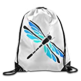 Jingclor Unisex Drawstring Backpack Playful Dragonfly Funny Art Portable Shoe Bags Travel Sport Gym Bag Yoga Runner Daypack