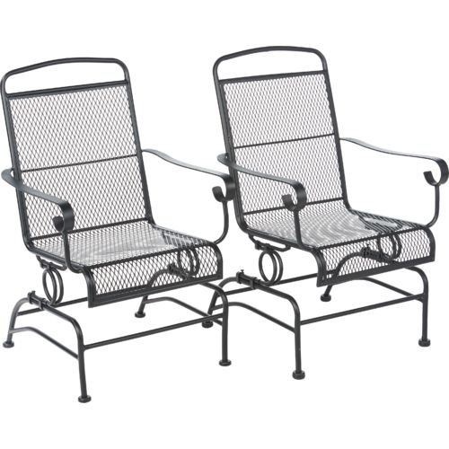 Amazon.com : Outdoor Steel Mesh Patio Rocking Chair Set : Patio, Lawn U0026  Garden