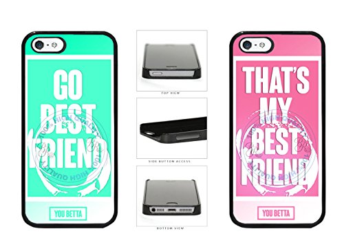 BleuReign(TM) BFF Go Best Friend - Thats My Best Friend You Betta Plastic Phone Case Back Cover For Apple iPhone 5 5S