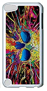 iPod Touch 5 Cases & Covers - Colorful Skull Custom PC Soft Case Cover Protector for iPod Touch 5 - White