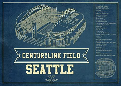 Cutler Miles Centurylink Stadium Vintage Wall Art 30