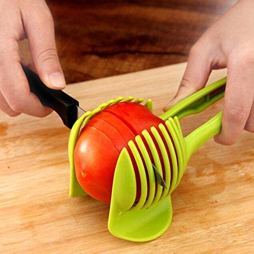 Rurah Vegetables Slicer ,Multifunctional Handheld Tomato Round Slicer Fruit Vegetable Cutter,Lemon Shreadders Slicer by Rurah (Image #2)