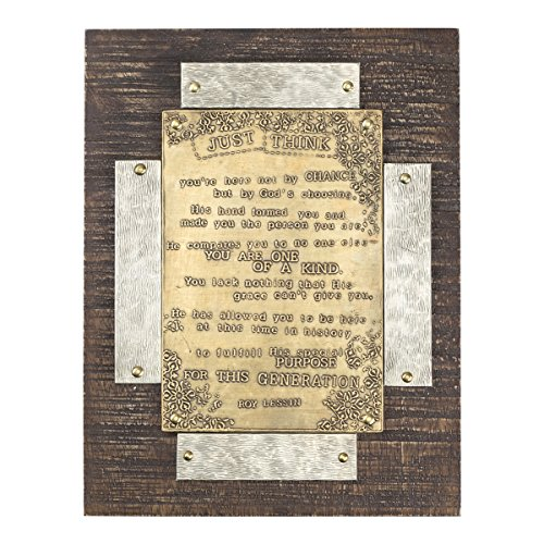 Plaque - Wall or Stand Alone - Just Think by Roy Lessin