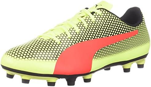 a90e3cf8b61b3 PUMA Men's Spirit FG Soccer Shoe, Fizzy Yellow-red Blast Black, 11 M ...