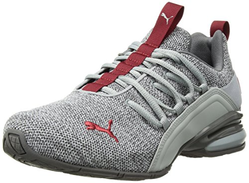 - PUMA Men's Axelion Sneaker, Quarry-Quiet Shade-red Dahlia, 7.5 M US
